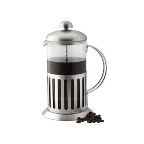 STAINLESS STEEL SHOCK PROOF GLASS COFFEE PLUNGER/MAKER