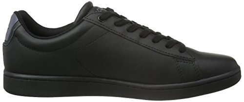 Lacoste Carnaby Evo S216 2, Baskets Basses Homme Multicolore (Blk/Dk Gry)