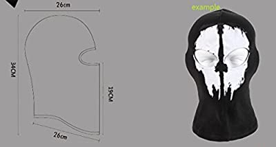 XUE Balaclava Skull Full Face Ski Face Mask for Men Women Winter Windproof Motorcycle Neck Warmer Tactical Balaclava Hood Snowboard Cycling Hat Outdoors Helmet Liner-Ghost Black by QINGLONGLIN