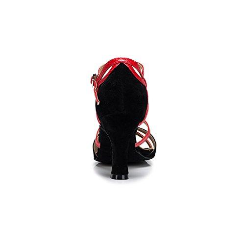 Miyoopark - Ballroom donna Black/Red-8cm Heel