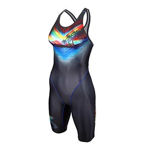ZAOSU Damen & Mädchen Wettkampf-Schwimmanzug Z-Paradise   Langer Competition Badeanzug für Damen und Mädchen mit Fina-Zulassung, Größe:152