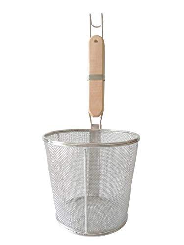 Trenta Küche Edelstahl Draht Sieb, Bambus Griff Größe S silver, brown (Pasta-sieb Griff)