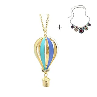 Atdoshop(TM) New Fashion Colorful Jewelry Aureate Drip Hot Air Balloon Pendant Long Necklace