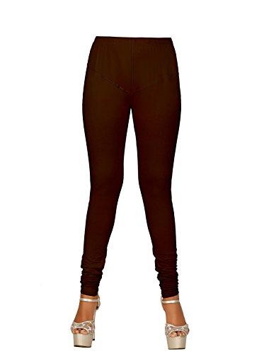 Women\'s Leggings Cotton Churidar V Cut Gold (COFFEE) By BARBIS