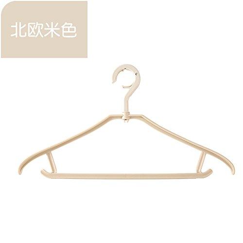 XXAICW Anti-Rutsch Kleiderbügel nach Hause Dessous nahtlose Kleider aufzuhängen Trockentauchanzug Kleiderbügel Kleiderbügel drehbar 1 , Beige
