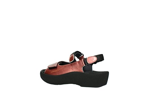 Wolky , Baskets mode pour femme 853 coral red patent leather
