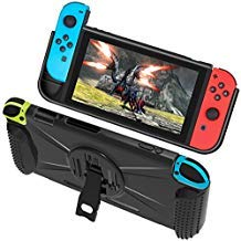 StarPlayer Schutzhülle für Nintendo Switch Hülle Anti-Shock und Anti-Kratzer mit stabilem Halter, Kartenfach Rillen -