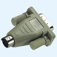 Vivanco PS/2-Maus-Adapter, 9-pol. Sub D-Stecker auf 6-pol. Mini DIN-Stecker