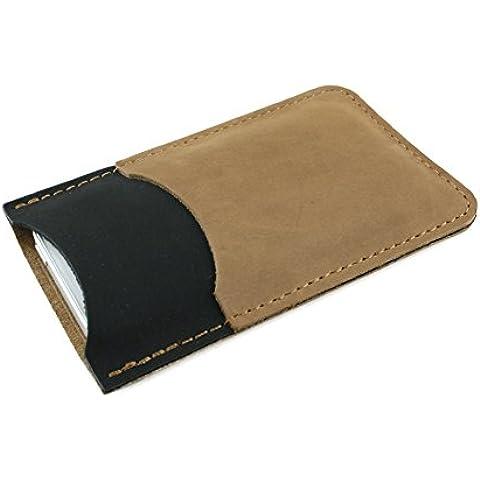 """FUTLEX funda cartuchera """"Marco"""" para iPhone SE / 5 / 5S / 5C en piel auténtica - Diseño excepcional - Elegante - Protectora - Piel"""