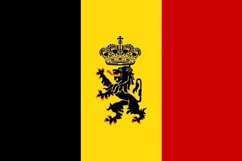 Aufkleber Fahne von Belgien mit Wappen Flaggen Sticker Autoaufkleber
