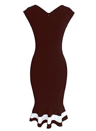 Sparkling YXB - Robe - Cocktail - Sans Manche - Femme Noir Noir rouge foncé