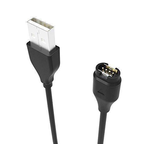 Wokee Garmin Fenix 5 5 S 5X Plus Uhr Watch Charging Cable Universelles Ladekabel Premium Portable USB Ladegerät-USB Lade Daten Cradle Dock Kabel Ladegerät- für Garmin Fenix 5 5 S 5X Plus Uhr (Usb-daten-kabel Garmin)