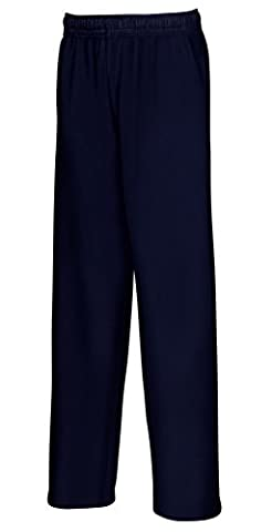 Fruit of the loom Jungen Sporthose Lightweight Open Hem Jog Pants Kids, Blau (Deep Navy 202), 140 (Herstellergröße: