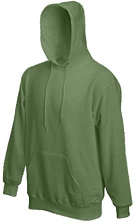 Fruit of the Loom Classic Hooded Sweat Oliv,S S,Oliv