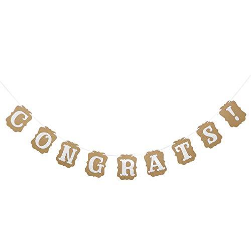Glückwunsch Brief Banner Graduation Bunting Banner Glückwunsch Dekoration Zeichen für Graduation Geburtstag Hochzeit Baby Shower Party Favor Supplies ()