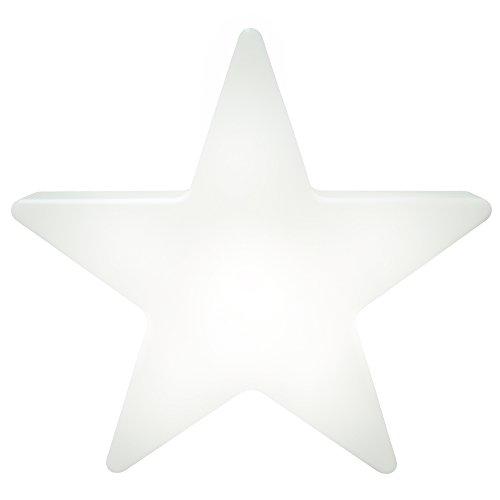 8 seasons design | LED Sternleuchte Shining Star Mini (Ø 40 cm, 15 Farben, harmonischer Farbwechsel, Fernbedienung, beleuchtete Weihnachtsdeko) weiß