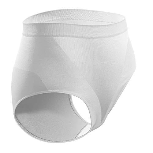 Sesto Senso® Ropa Interior Moldeadora para Mujer Sin Costura 1 o 3 Pack Fajas Reductoras Bragas Nalgas Push Up - Gloria (S/M, Blanco)