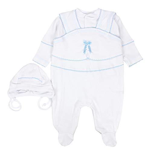 TupTam Unisex Baby Taufbekleidung 3-TLG. Set, Farbe: Weiß/Junge, Größe: 74
