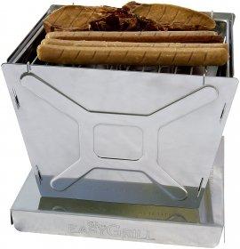ON'S EasyGrill - Handlicher, zerlegbarer Grill aus rostfreien Edelstahl - Geeignet für Picknick im freien oder Grillen auf dem Balkon bzw. der Terrasse