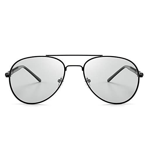 ZXYSSKT Klassische Farbe wechselnde polarisierte Sonnenbrille Männer Reiten Sonnenbrille Tag und Nacht Sonnenbrille,Chrome