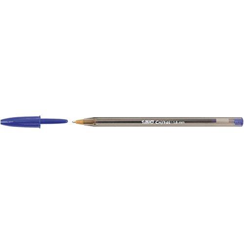 BIC Cristal Large–Bolígrafo 1.6mm Azul [Pack de 50]