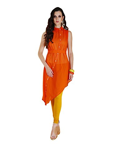 Yepme Febe Kurti Set - Orange & Mustard -- YPMSKD0093_L