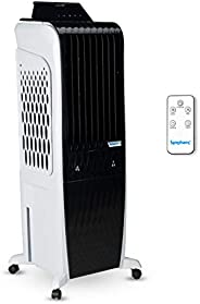 Symphony Diet 3D - 30i Personal Tower Air Cooler 30-litres with Magnetic Remote, 3-Side Cooling Pads, Pop-up T
