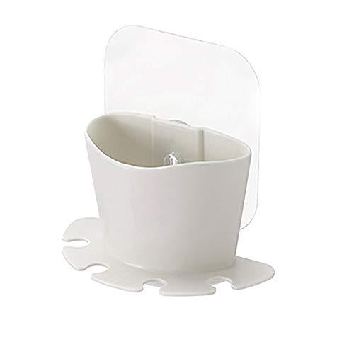 vijTIAN Aufbewahrungsbox für Zahnbürsten, zum Aufhängen, waschbar, langlebig und einfach anzubringen beige (Lila-küche-hilfe-utensilien)
