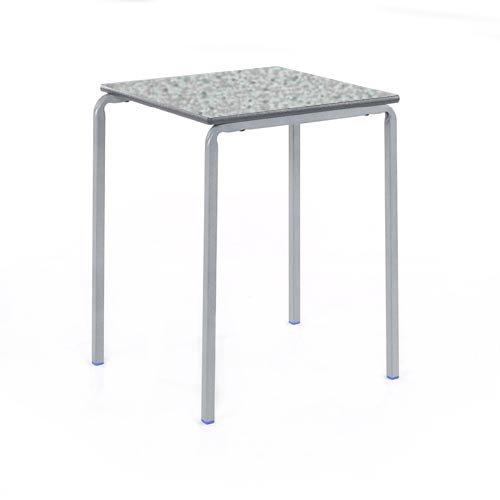 Metalliform CBSQ-12C-PS-LG-46-BK-Ailsa Mesa curvada poliuretano termoplástico, borde gris claro, Ailsa
