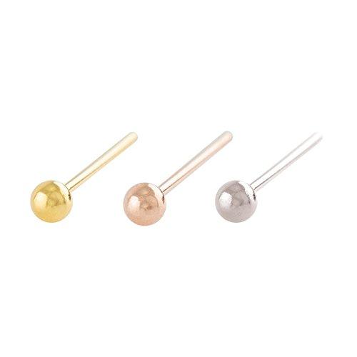 ® piercingline piercing en argent sterling 925 et boule piercing de nez flexible doré