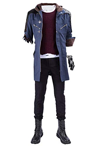 Tollstore DMC 5 Devil May Cry V-Nero nur Mantel Cosplay Kostüm Herren (Dmc 5 Kostüm)