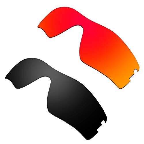 HKUCO Verstärken Ersatz-Brillengläser für Oakley Radar Pitch Rot/Schwarz Sonnenbrille
