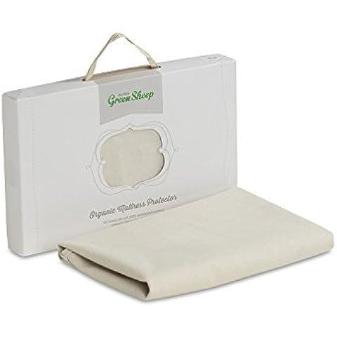 The Little Green Sheep orgánico Protector de colchón impermeable (adaptarse a Stokke cuna)