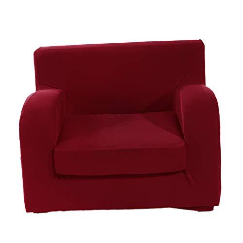 KESOTO 1-3 Sitzer Sesselschoner Sesselhusse Stretchhusse Stretch Hussen - 1-Sitzer Weinrot (Sitz-sofa-abdeckung Sicher, Dass Sie)