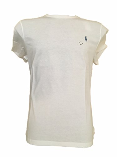 Ralph Lauren Sport Damen Crewneck T-Shirt (Weiß, Medium)