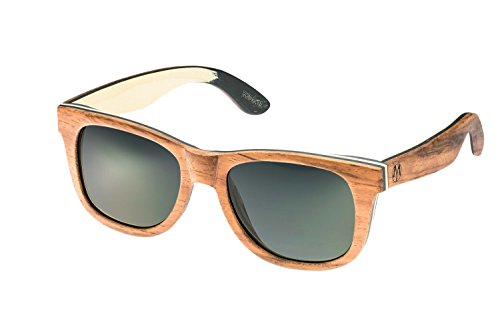 MoreYou Herren & Damen Sonnenbrille Holz Wayfarer Modern & Stylisch, 100% UV-Schutz