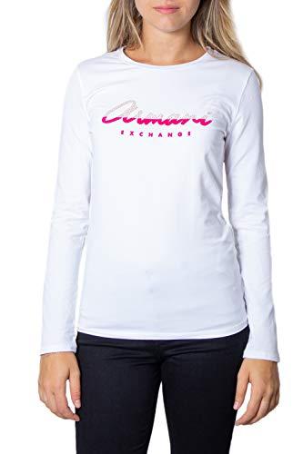 Armani Weiß Langarm (Armani Exchange T-Shirt Langarm Damen Small Weiß)