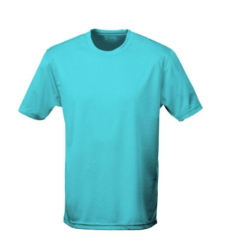 Just Cool - Performance T-Shirt, atmungsaktiv M,Hawaii Blau (Uv-schutz Upf 30)