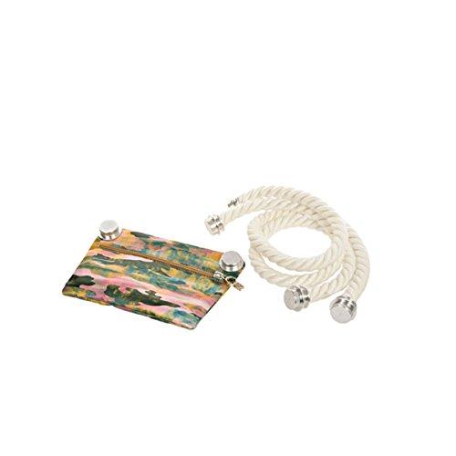 Lolly li originale secchiello borsa secchio manici in corda con tasca interna Eco-friendly Made in Italia modalità donne giallo
