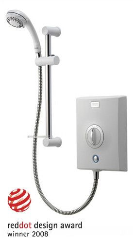 Aqualisa Quartz White/Chrome Electric Shower - 8.5kW Best Price and Cheapest