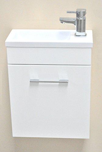 Minimo bianco square lavabo da parete. mobili da bagno guardaroba mobiletto lavabo con 370x 180