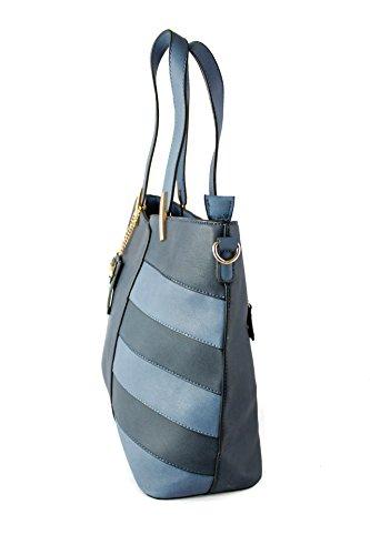 Foxlady lovely di medie dimensioni a mano/tracolla con ciondolo gufo dettaglio 40*30*14cm Blue/Navy