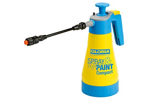 GLORIA Drucksprühgerät Spray&Paint Compact 1,25L für Lasuren,Lacke,Öle auf wasserbasis -