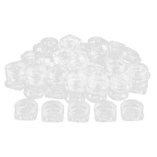 B Baosity Set 50pcs Pot de cosmétiques échantillon Rechargeables Trousses - 2g