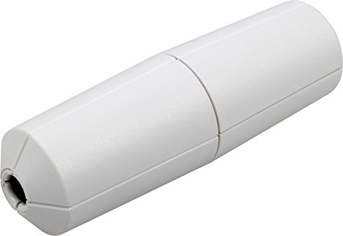 LUMEO MOBIL LED-Dreh-Schnurdimmer 2860x0800 (T28.08) auch HV-HALOGEN + Glühlampen 5-100 W/VA (LED 3-35W) - Farbe: weiß - Schnur-dimmer Durch