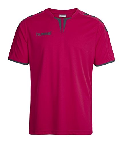 Hummel Jungen Trikot Core Short Sleeve Poly Jersey, Virtual Pink/Dark Slate, 164 - 176, 03-636-4315