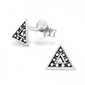 Triangle Argent sterling 925 Uni Clous d'oreille