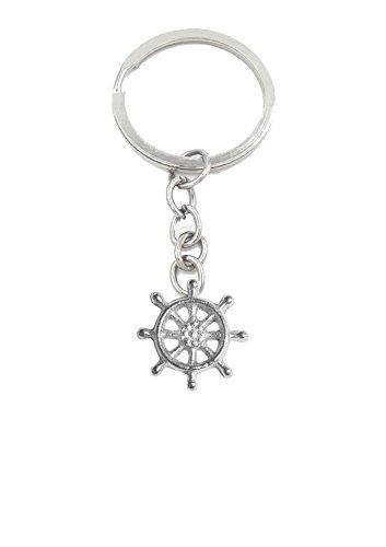 Boot Schiff Rad gt329Emblem aus feinem englischen Zinn auf einer Split Ring Schlüsselanhänger/Tasche Charme sehr feine Details kommt Geschenk Beutel geschrieben von uns Geschenke für alle 2016von Derbyshire UK (Rad Feines)