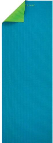 gaiam-yogamatten-two-sided-solid-yoga-mat-turqouise-green-3-mm-55475