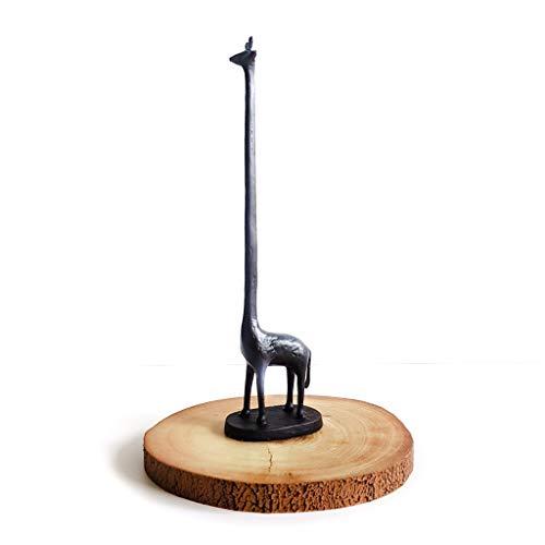 Garten Mile, Gusseisen-Giraffe als WC-Papierrollenhalter, freistehend in der Küche, Rollenspender, Ständer, Halter, Deko (Gusseisen Rollen)